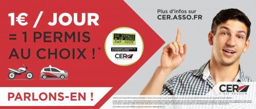 Le permis à 1 euro par jour chez CER auto école à Forcalquier Oraison Les Mées